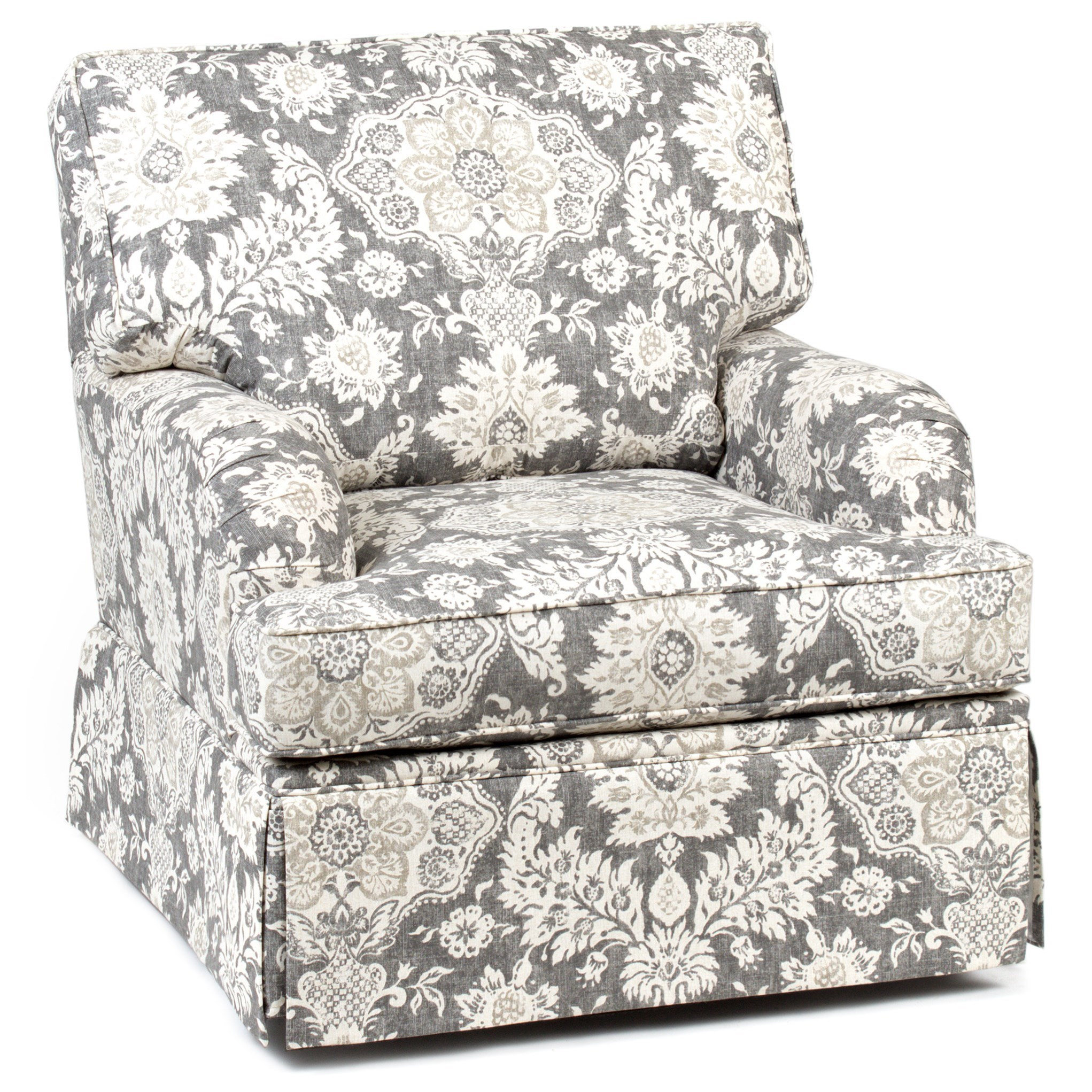 Accent Chairs And Ottomans Skirted Swivel Glider Chair