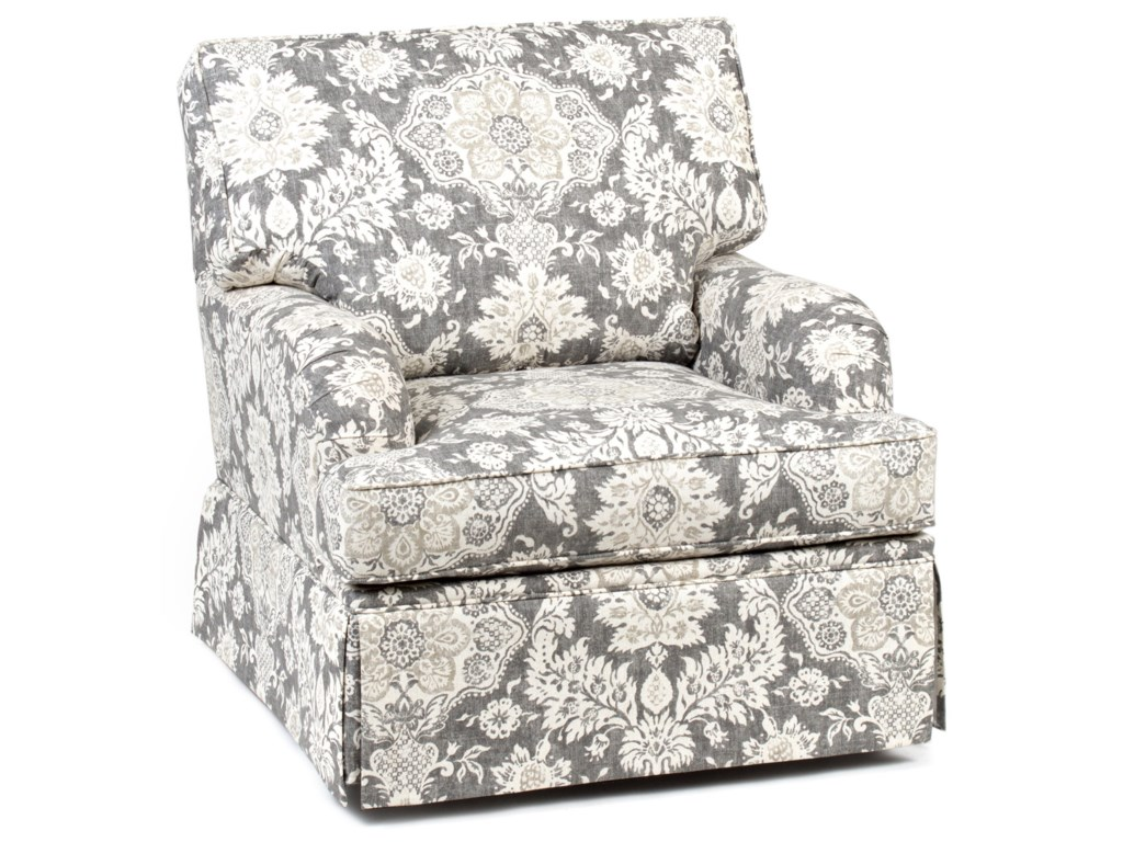 Traditional accent chairs - Chairs America Accent Chairs And Ottomans Traditional Skirted Swivel Glider Chair
