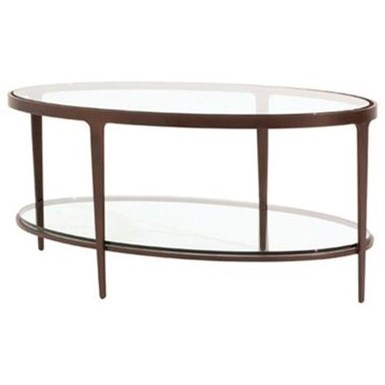 Charleston Forge Dining Room Accents Ellipse Cocktail Table