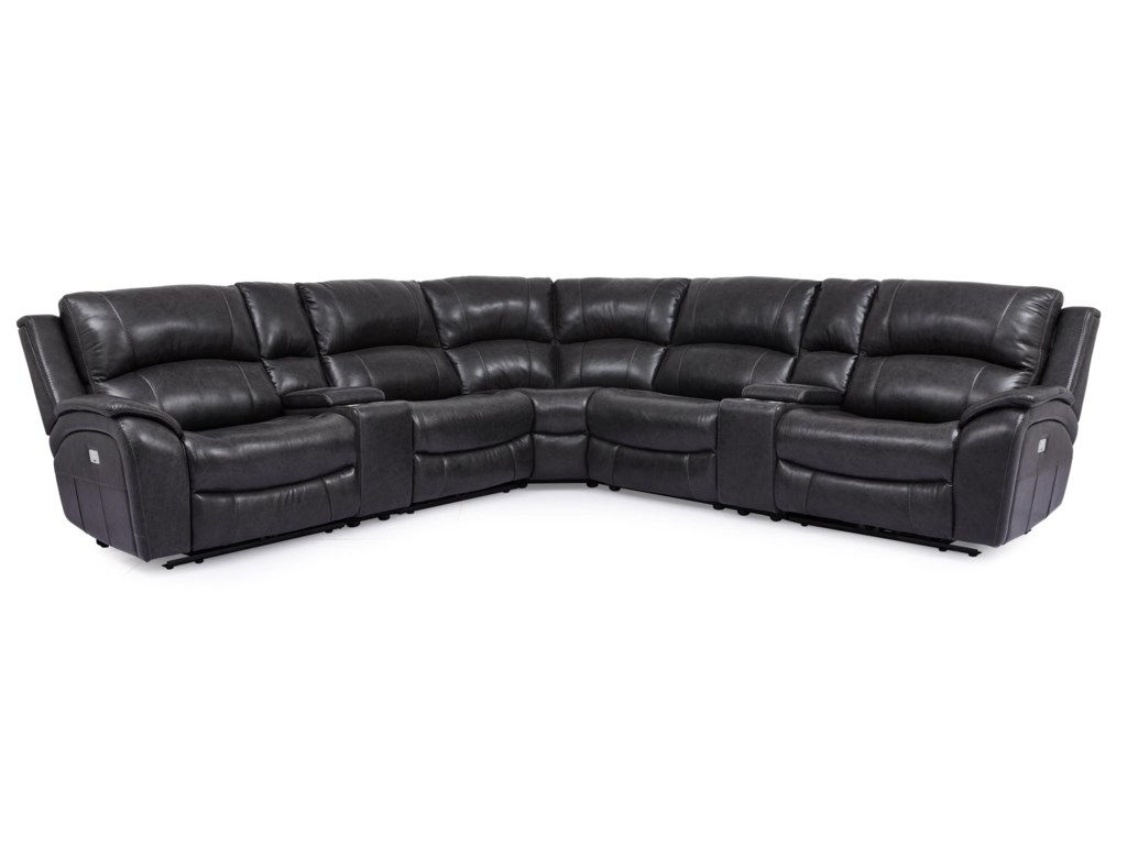 Cheers 5313Power Reclining Sectional Sofa