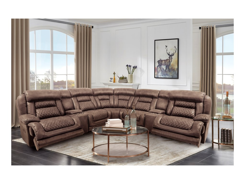 Cheers Cowboy7-Piece Power Reclining Sectional