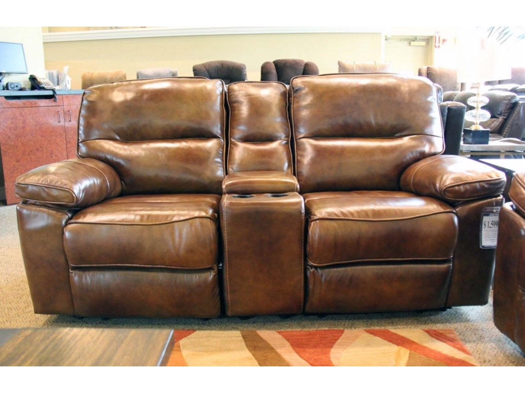 Cheers MontrealPower Reclining Console Loveseat with Power
