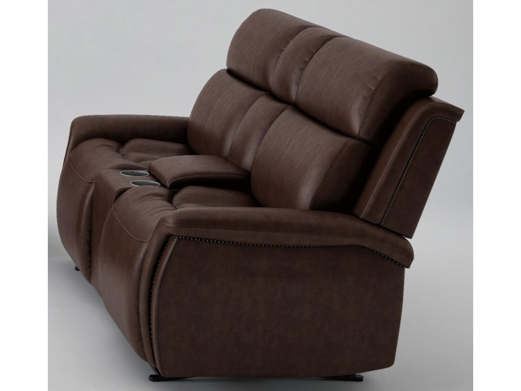 Cheers 70021Power Headrest Loveseat with Console