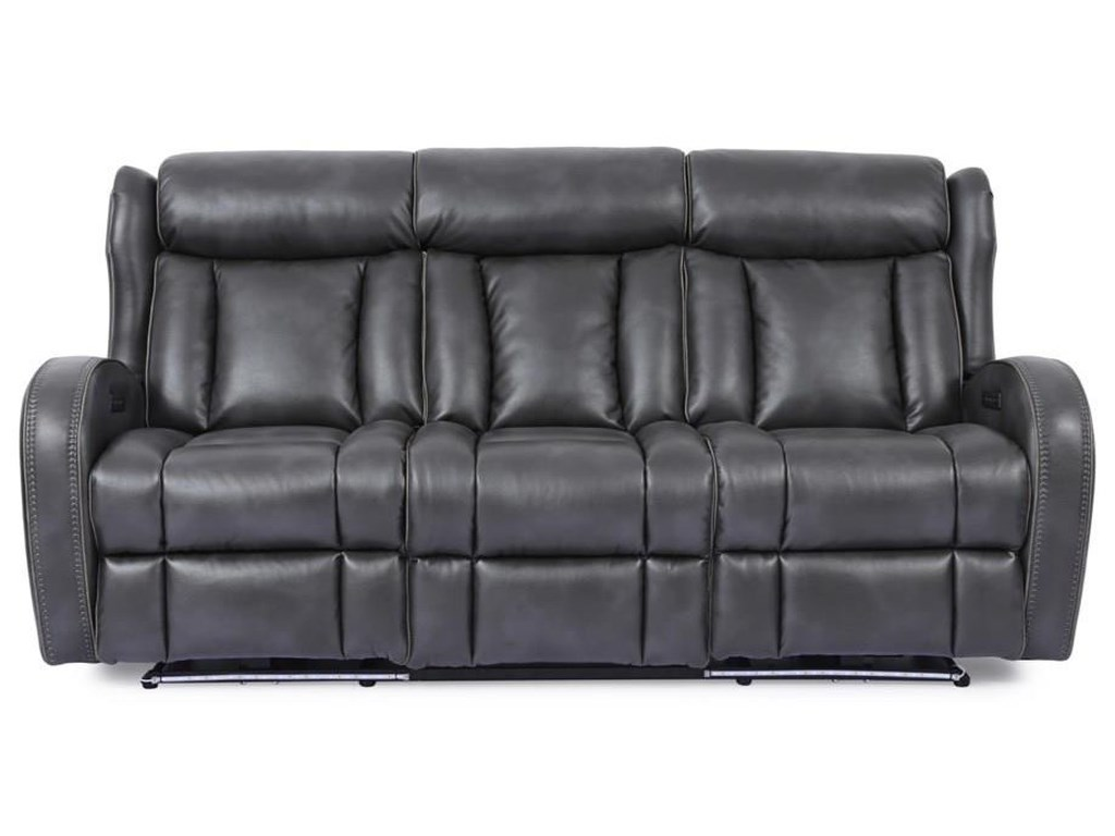 Cheers 70083Power Headrest Sofa with Lights and Drop Dow