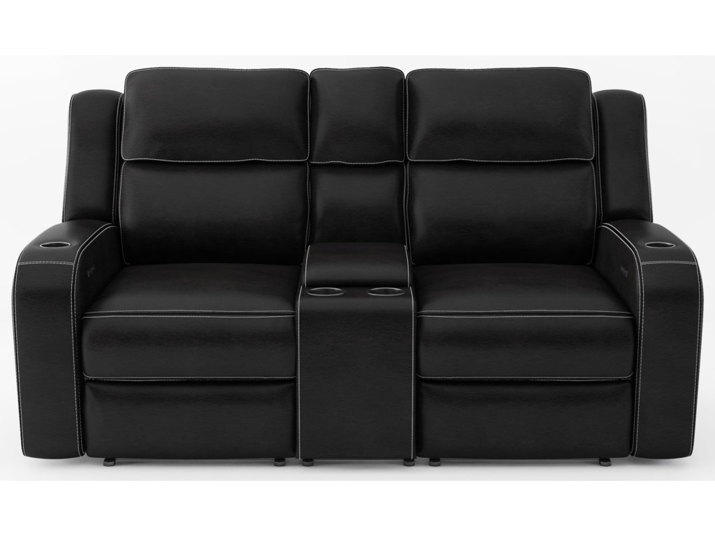 Cheers 70086Power Headrest Loveseat with Console
