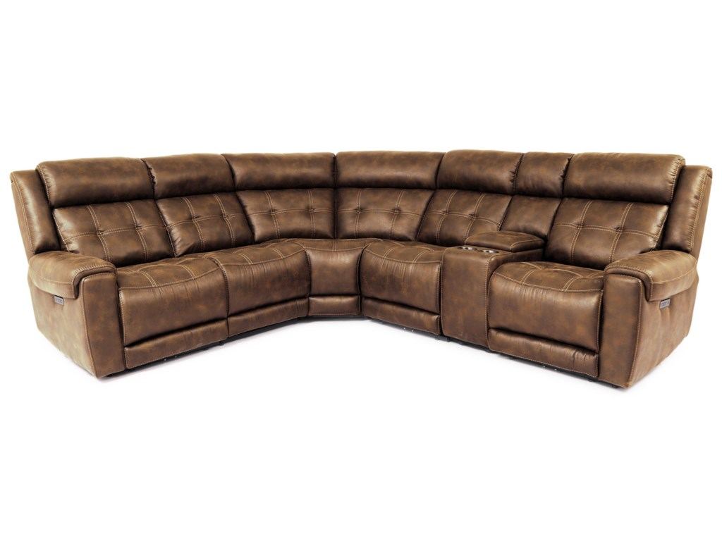 Cheers 701156-Piece Power Reclining Sectional