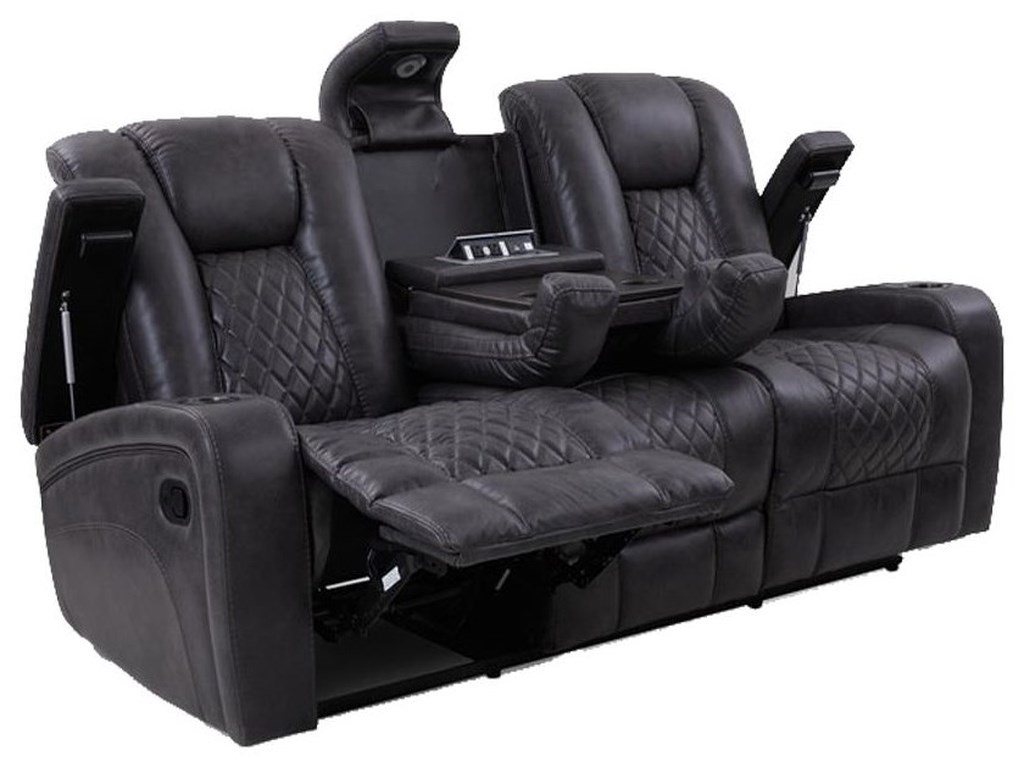 Cheers Transformer GraniteReclining Sofa w/ Dropdown Table