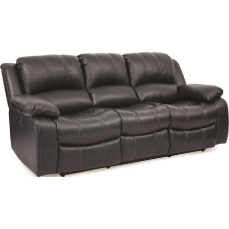 Leather Match Power Sofa