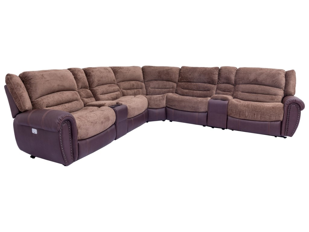 Cheers UXW8295MPower Headrest Reclining Sectional