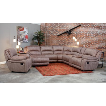 Modular Reclining Sectional (POWER OPTION)