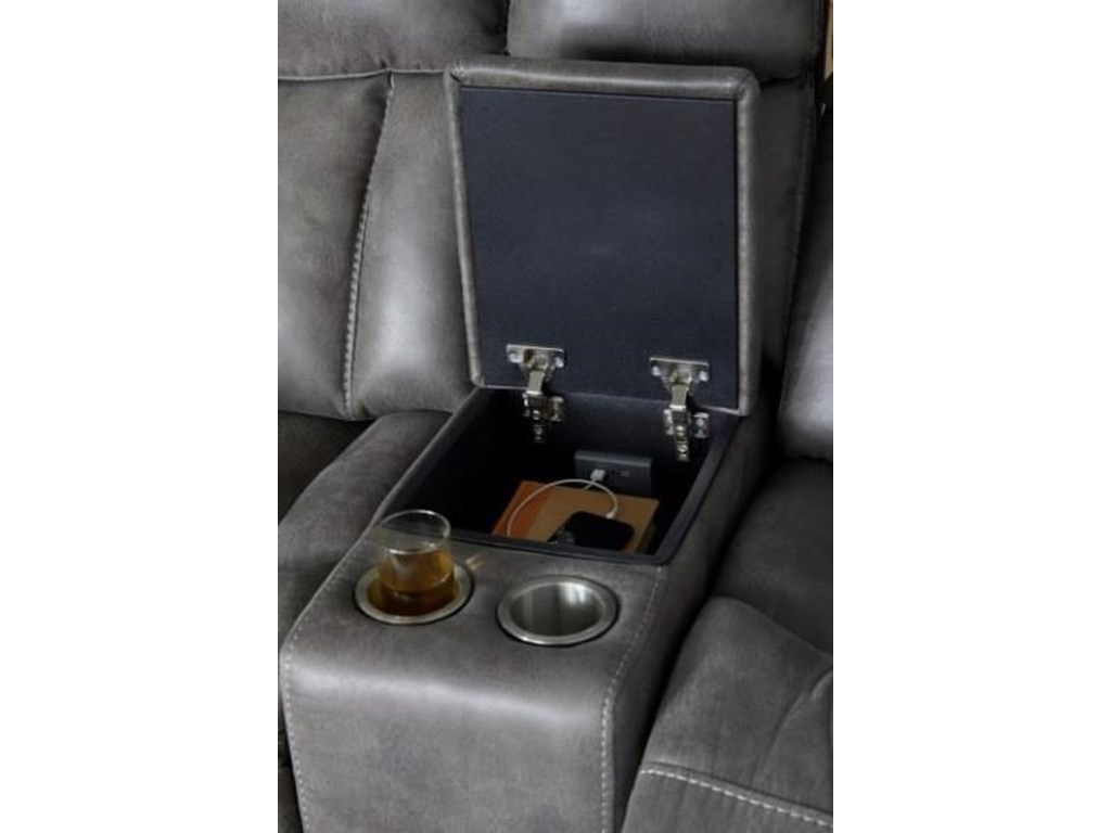 Cheers 20489Power Reclining Loveseat with Console