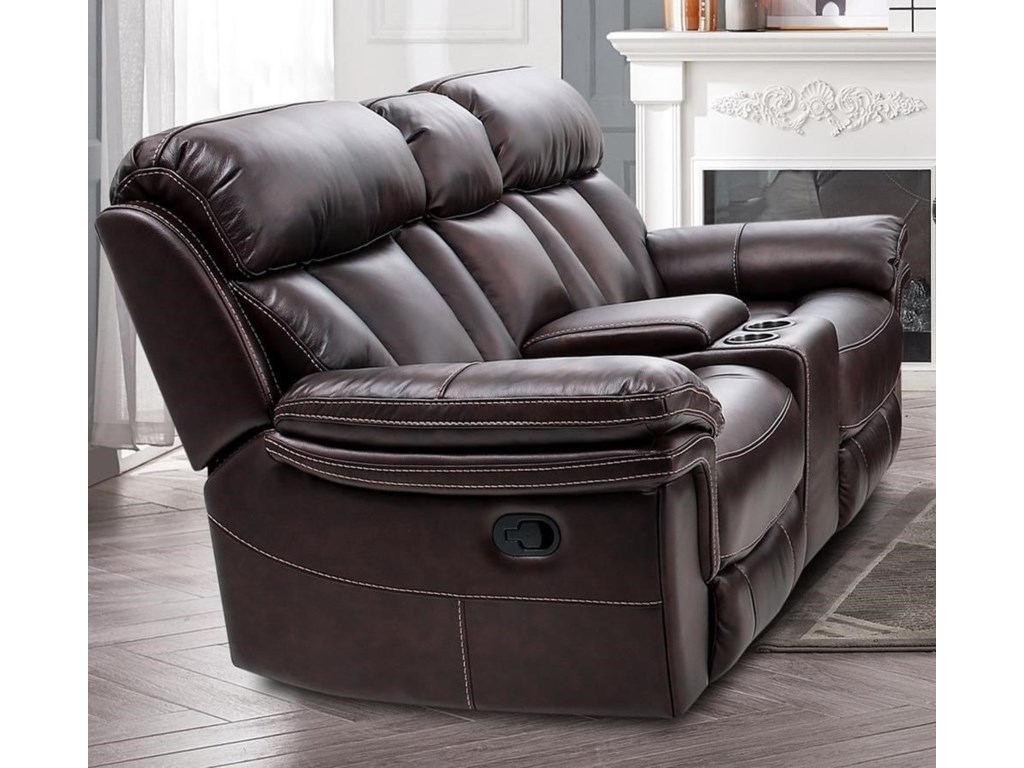 Cheers JohnstoneReclining Console Loveseat