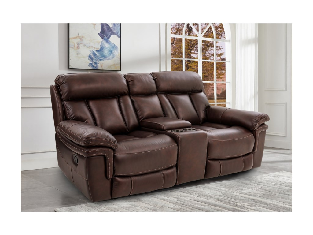 Cheers JohnstonePower Reclining Console Loveseat