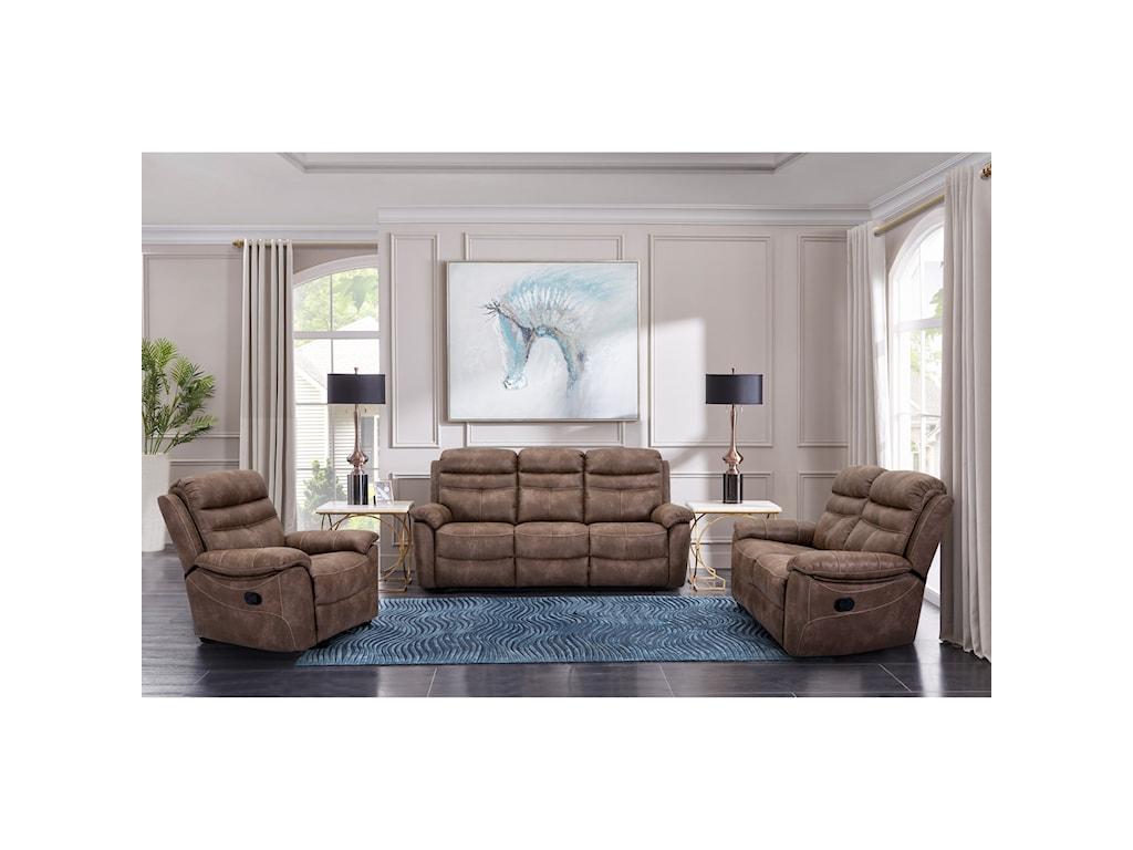 Cheers 9939Wallhugger Dual Reclining Sofa