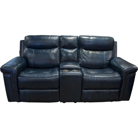 Baxter Leather Power Loveseat