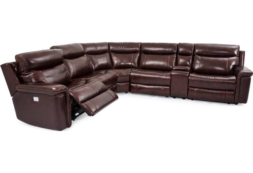 Cheers Baxter 6 Piece Leather Match