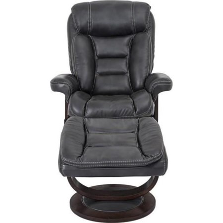 Houck Contemporary Recliner and Ottoman Set