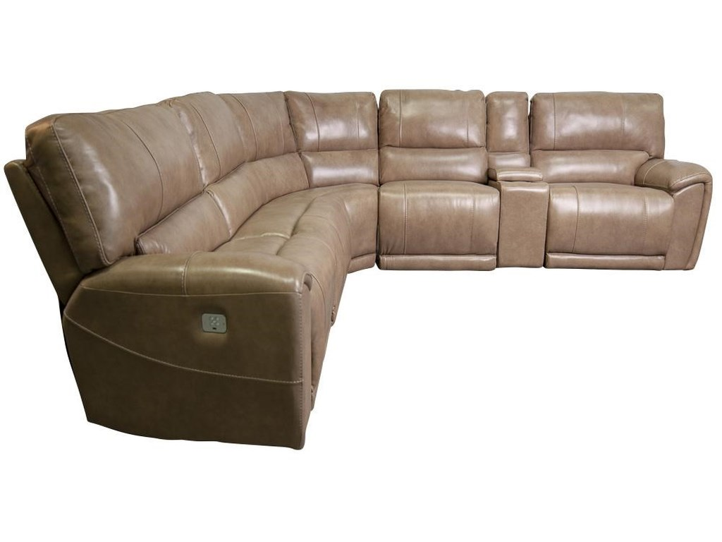 Cheers OwenOwen Leather Match Power Sectional