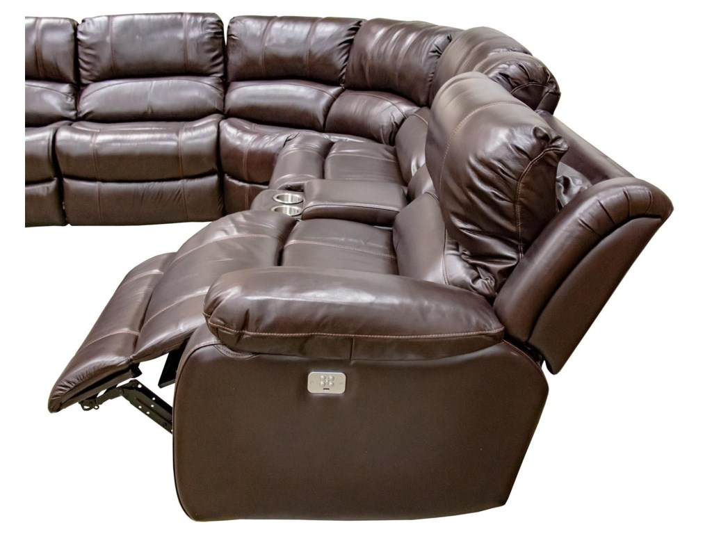 Cheers Concord Leather6-pc. Power Reclining Sofa with USB