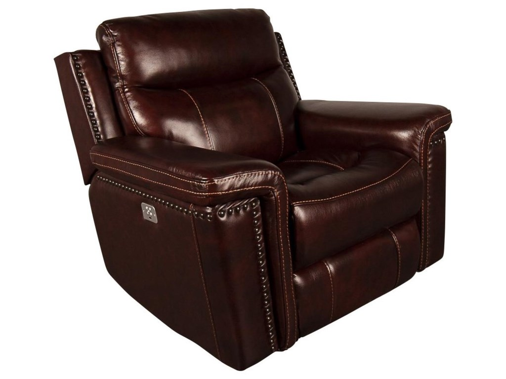 Morris Home MckenzieMckenzie Leather Match Power Recliner