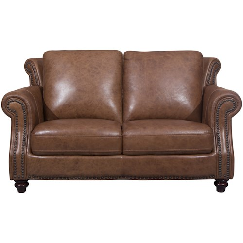 Cheers Sofa 2115 Traditional Loveseat with Nailhead Trim