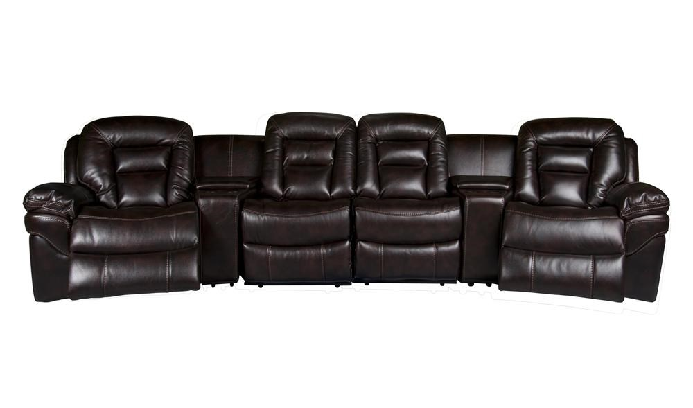 Derek Leath-aire Power Reclining Sectional - Morris Home - Theater Seating  sc 1 st  Morris Furniture : theater seating sectional - Sectionals, Sofas & Couches