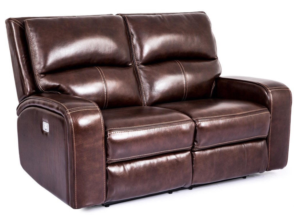 Cheers Sofa 5168M Motion High Back Love Seat with Power ...