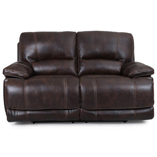 Warehouse M 5185 Dual Power Motion Loveseat with Power Headrests