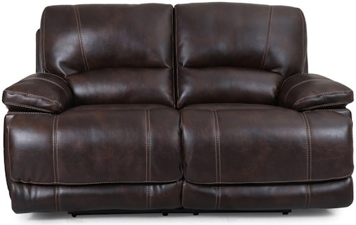 Cheers Sofa Shelton Dual Power Motion Loveseat with Power Headrests