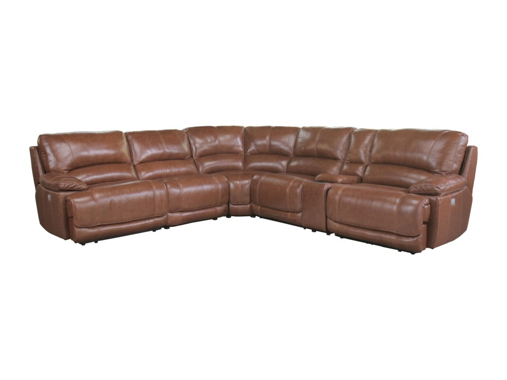 Cheers Sofa 5185 Reclining Sectional With Console