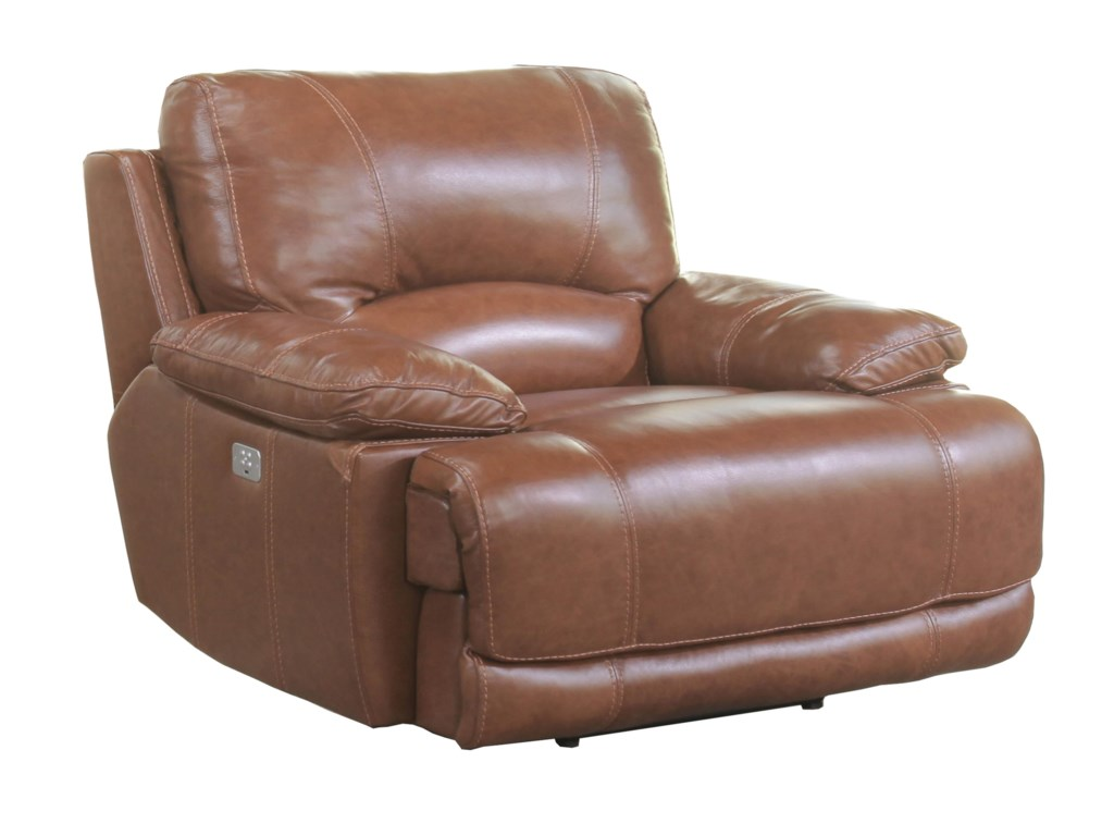Cheers Ridgemont LeatherPower Recliner with Power Headrest