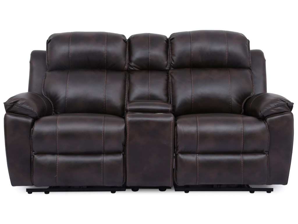 Hudson Reclining Loveseat With Lumbar Headrest And Footrest By Cheers At Royal Furniture