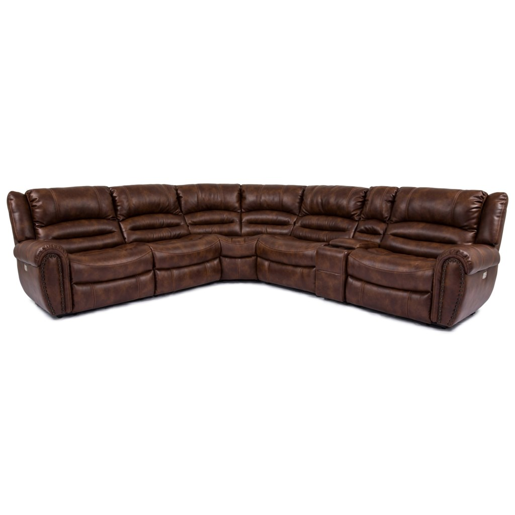 Cheers Sofa Uxw8295m Power Reclining Sectional With Console  ~ Red Reclining Sectional Sofa