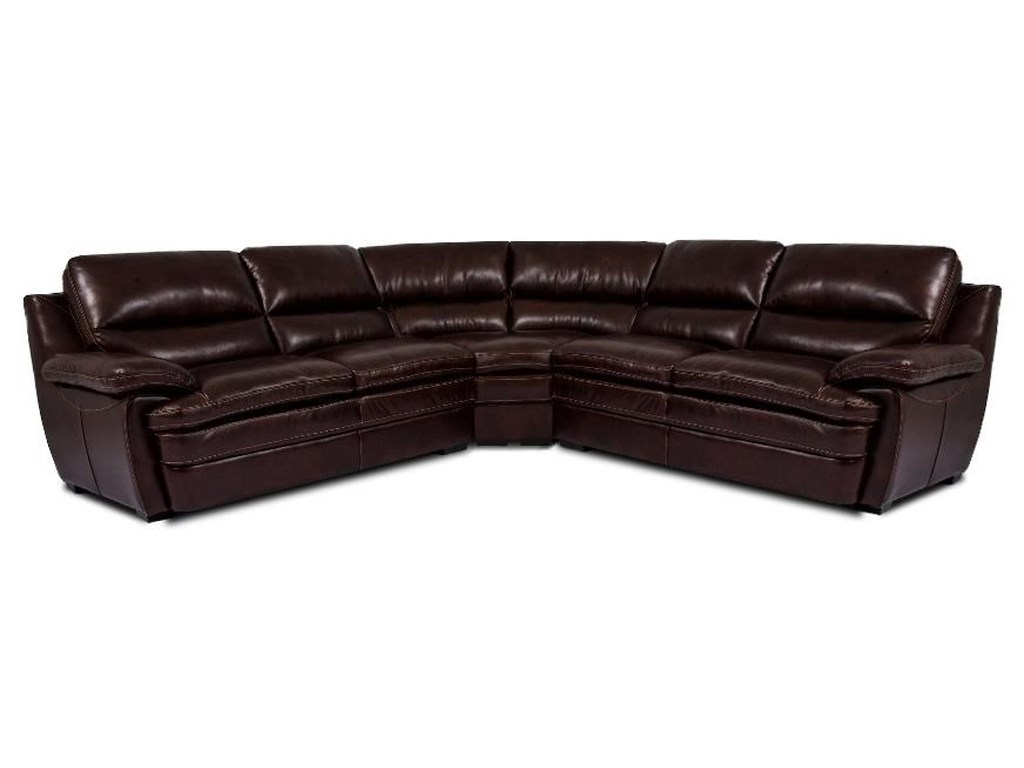 Cheers Sofa TrentLeather 3 Piece Sectional