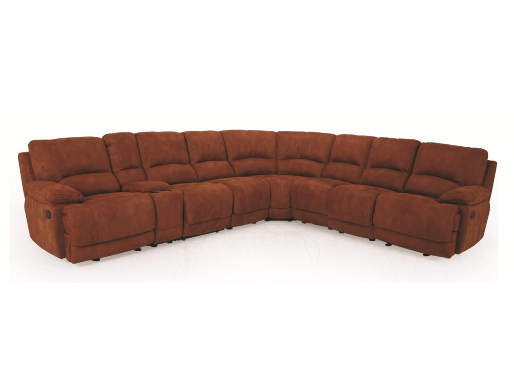 Cheers 8861m Manual Motion Casual Reclining Sectional Sofa With