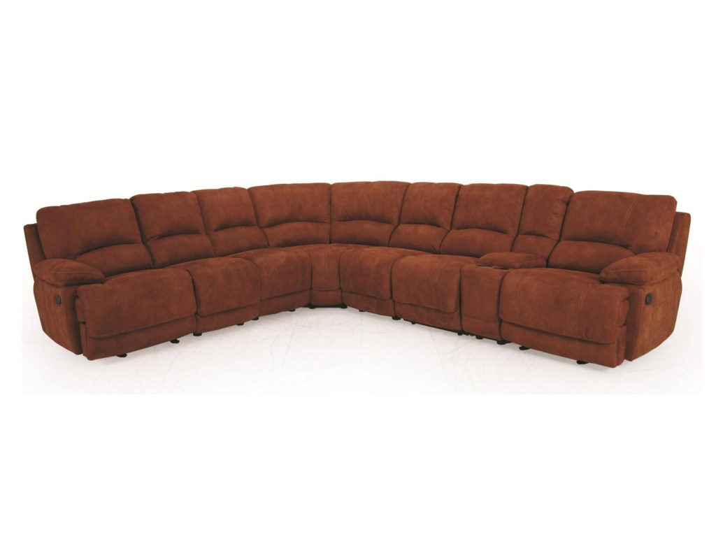 UXW8861M Reclining Sectional Sofa