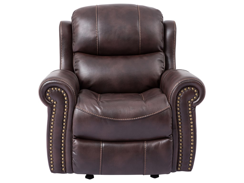 Cheers Piedmont LeatherGlider Recliner