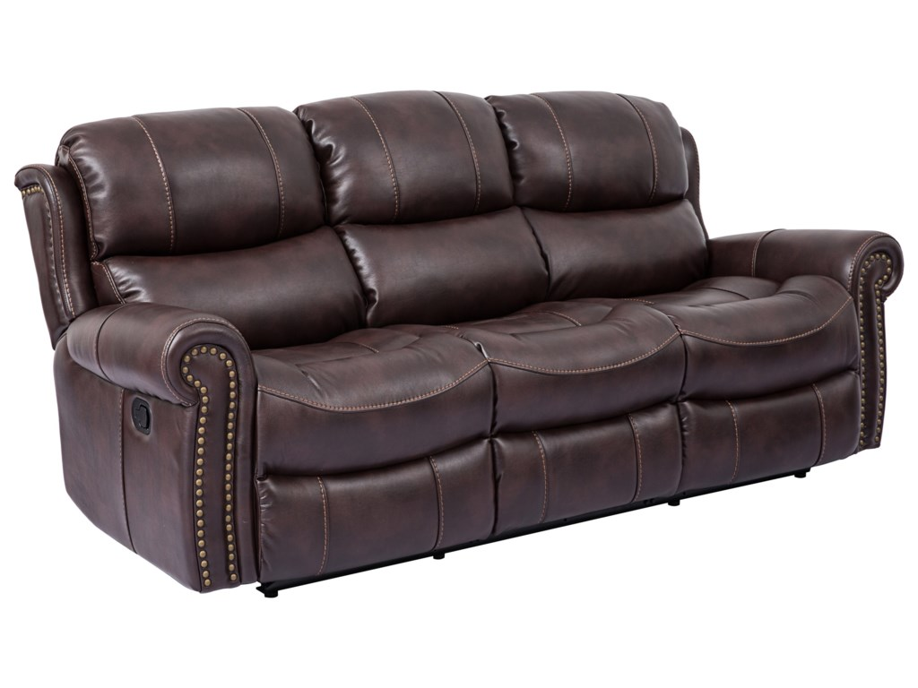 Cheers Piedmont LeatherDual Reclining Sofa