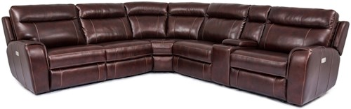 Warehouse M 9868 Power Reclining Sectional with Power Headrests