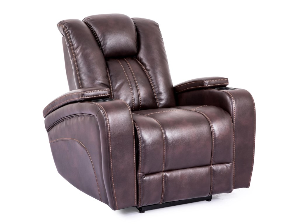Cheers Sofa 9990m Power Recliner With Arm Storage Compartments