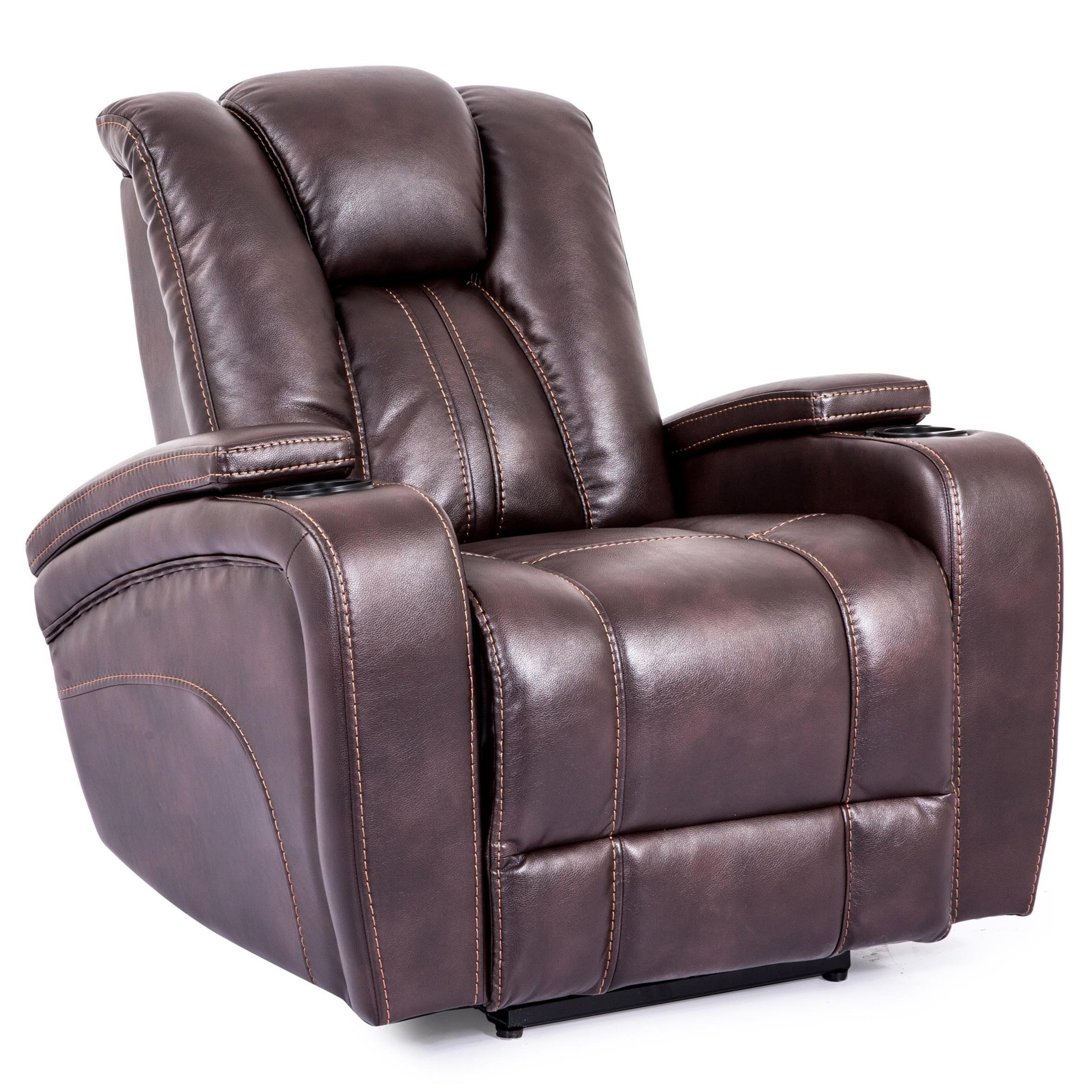Attirant Cheers Sofa 9990M Power Recliner With Arm Storage Compartments