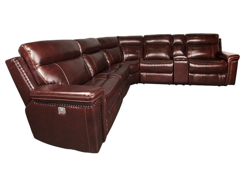 Cheers Sofa BaxterBaxter Leather Match Power Sectional Sofa