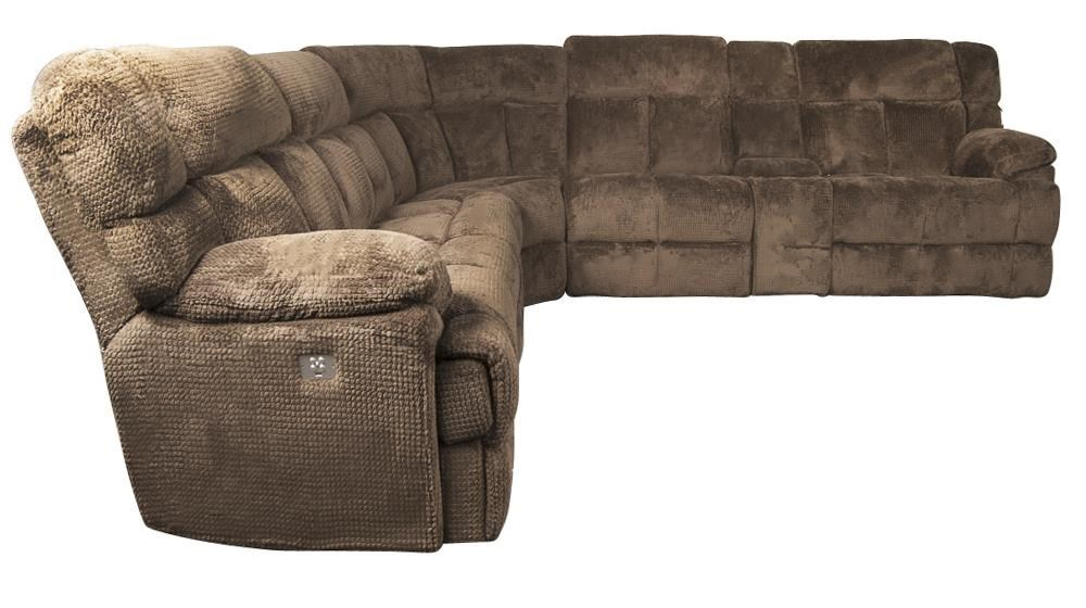... Morris Home BrysonBryson Sectional Sofa With 3 Recliners