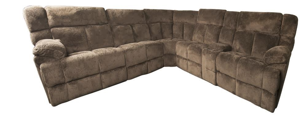 Morris Home BrysonBryson 6 Piece Sectional With 3 Recliners ...