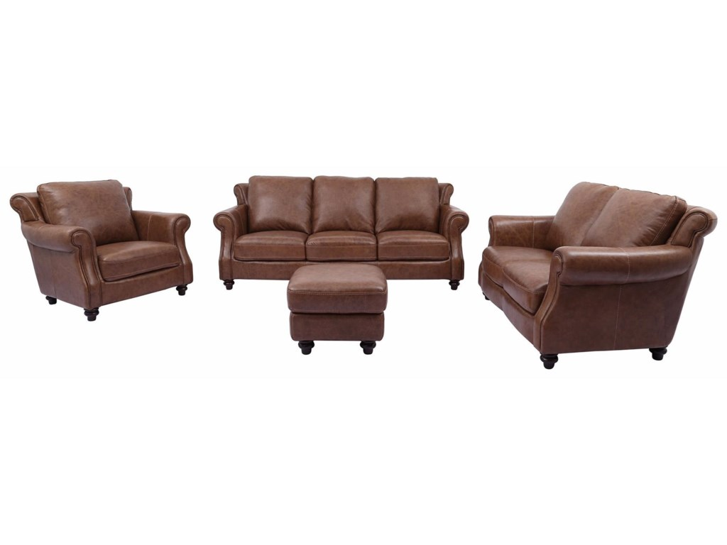 Cheers Sofa Cindy100% Leather Loveseat