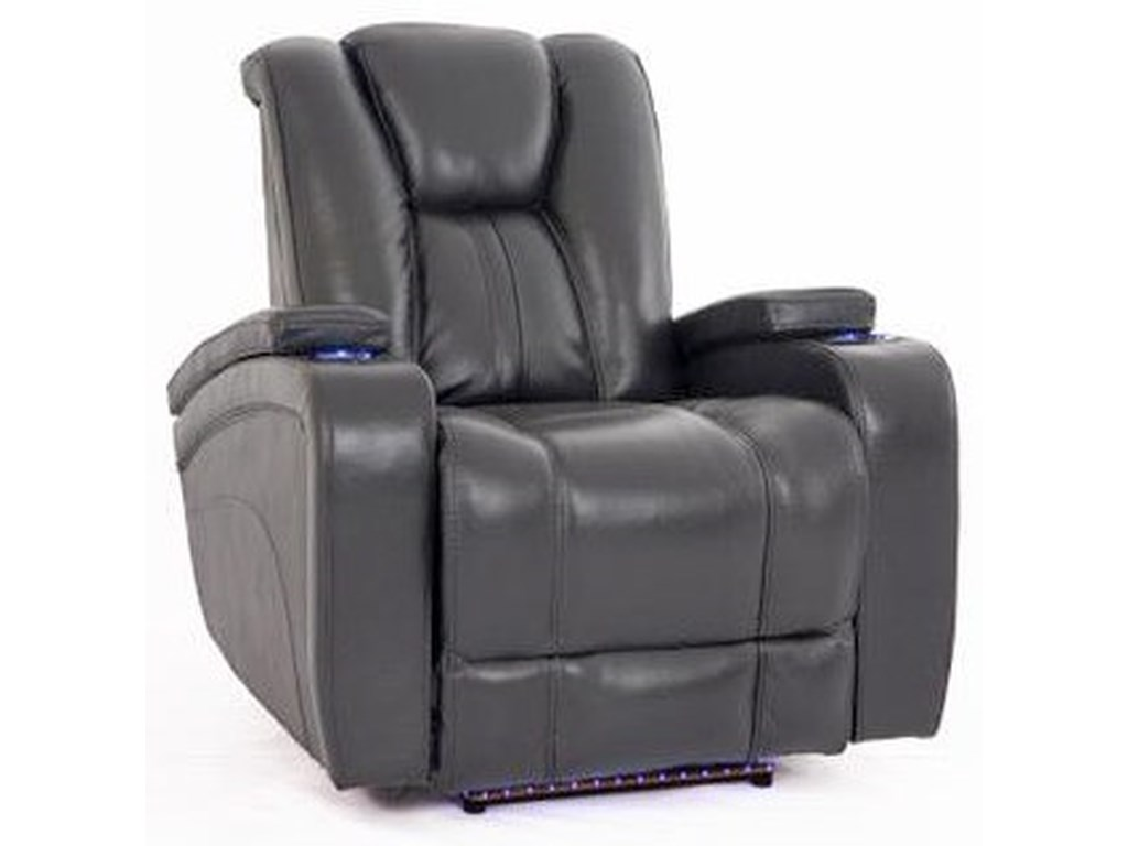 Cheers Sofa ReclinersCharcoal Recliner w/Pwr Head & Foot Rests
