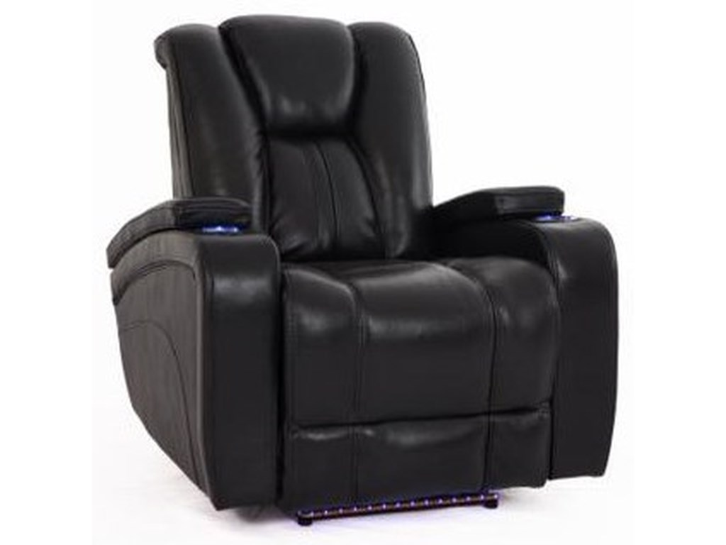 Cheers Sofa ReclinersBlack Recliner w/Pwr Head & Foot Rests