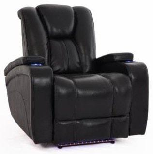Cheers Sofa ReclinersBlack Recliner w/Pwr Head & Foot Rests