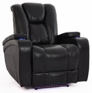 Cheers Sofa ReclinersBlack Recliner W/Pwr Head U0026 Foot Rests