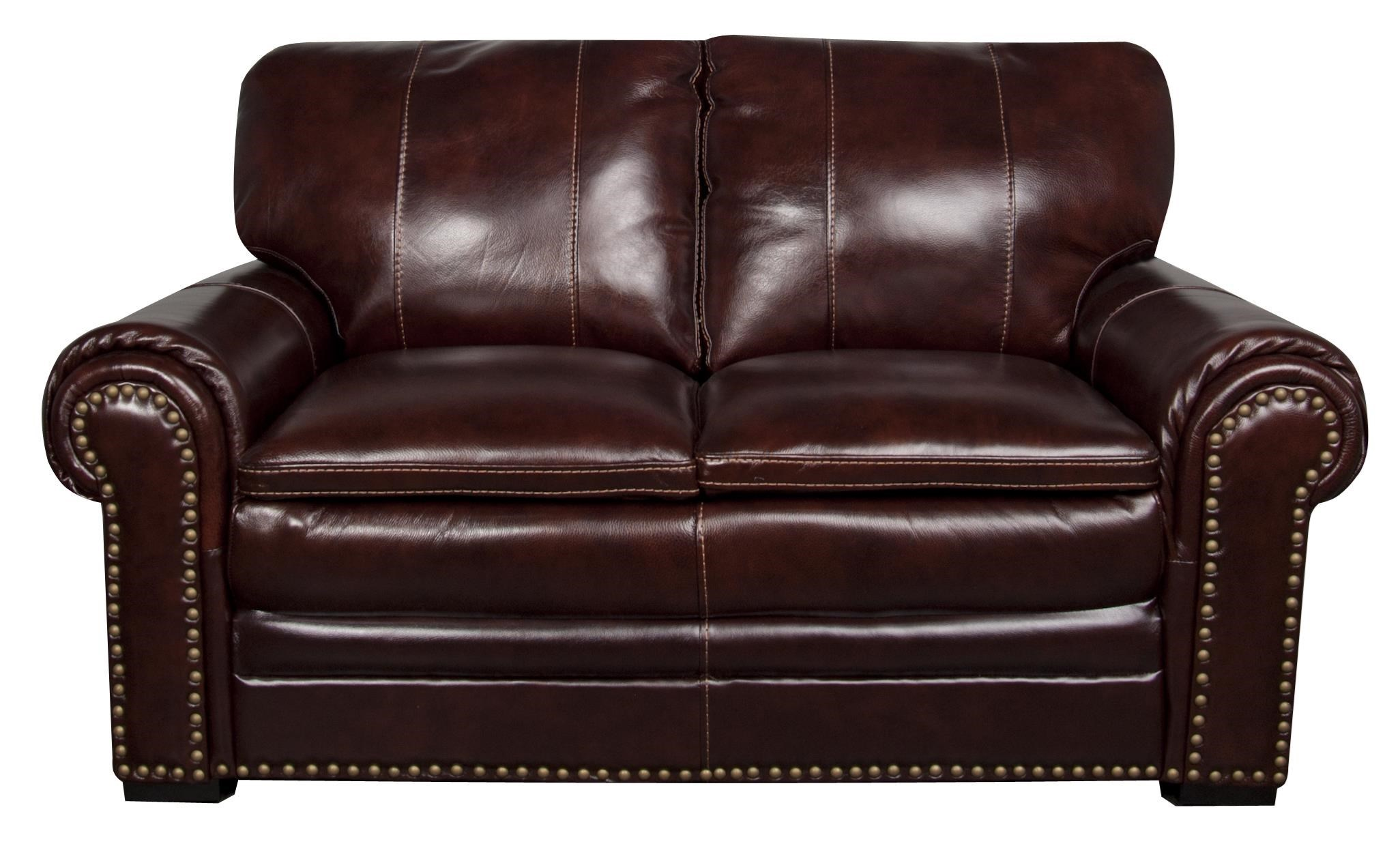 Morris Home ElwoodElwood Leather Match Loveseat ...